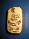 Cique Hugo- cutie metal veche anii 1900-1930. Marimi: 6/4/2.5 cm.