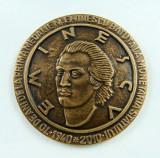 Medalie comemorativa Mihai Eminescu Moneda Mihai Eminescu Placheta Eminescu