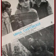 Urma castorului - Afis Romaniafilm film DEFA 1984, afise cinema Epoca de Aur