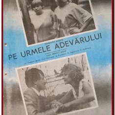 Pe urmele adevarului - Afis Romaniafilm film URSS 1985 afise cinema Epoca de Aur