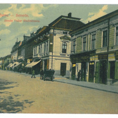4045 - TURNU-SEVERIN, street Tudor Vladimirescu - old postcard - used - 1913 - Carte Postala Oltenia 1904-1918, Circulata, Printata