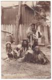 #2139 -Romania salutari, carte postala circulata 1911: Familie de Tigani