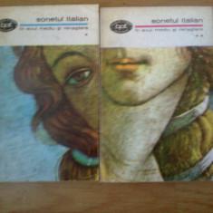 D9 SONETUL ITALIAN in evul mediu si renastere {2 volume}