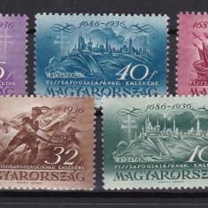 Ungaria 1936 aniversare MI 538-542 MNH w46, Nestampilat