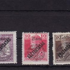 1919 POSTA LOCALA ORADEA CAROL SI ZITA SUPRAT. KOZTARSASAG 50 B SUPRAT.RANVERSAT - Timbre Romania, Nestampilat