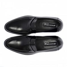 Mocasini barbati Franco Gabbani ABRAMO, piele naturala, negru, 2100, 42