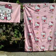 Hello Kitty / Lenjerie copii / pat 1 persoana - Lenjerie pat copii, Alte dimensiuni