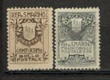 San Marino. 1907 Stema  KS.162, Nestampilat