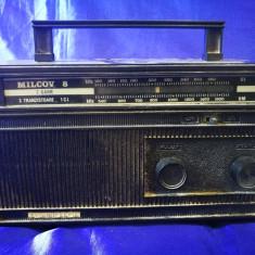 Radio românesc Milcov 8, produs de Tehnoton. NEFUNCTIONAL. Radio vechi - Aparat radio