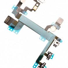 Banda cu buton on-off volum profil microcontact blitz si microfon Apple iPhone SE original - Buton microcontact