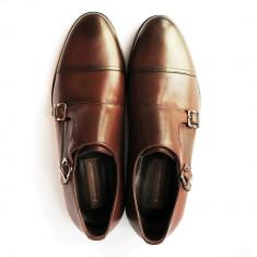 Pantofi eleganti pentru barbati Franco Gabbani ROBERTO, piele naturala, maro, 42 - Pantofi barbat