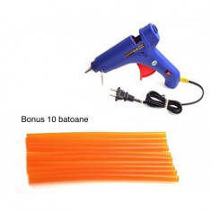 Pistol de lipit cu silicon, putere 60W, Bonus 10 rezerve silicon