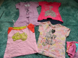 Set 4 tricouri fete, 5-7 ani, marimea 104-116 cm. COMANDA MINIMA 30 LEI!