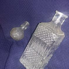 Sticla whisky BOHEMIA anii 1980/Bohemia cristal/STICLA Whisky cristal,Tp.GRATUIT