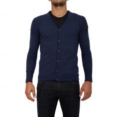 Cardigan GUESS - Pulover barbati Guess, Marime: XL, XXL, Culoare: Albastru, Bumbac