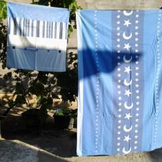 Semiluna albastra / Lenjerie pat 1 persoana - Lenjerie de pat, Bumbac