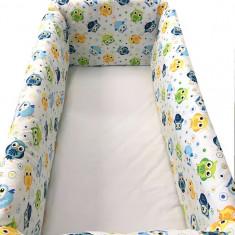 Aparatori laterale pentru pat Maxi 120 x 60 cm Vise Jucause Albastru-Verde Deseda - Lenjerie pat copii