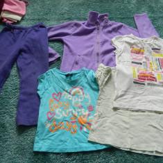 Lot de 5 hainute copii, de joaca, 4-8 ani, 5 produse- tricouri, pantaloni, bluza, Marime: 30, Culoare: Din imagine, Compleuri