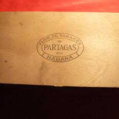 Cutie pt.Trabucuri - Flor de Tabaco de Partagas - Cuba, lemn 27x14x5cm