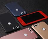 Bumper / Husa 360° fata + spate pentru Huawei Honor 8 / Honor 9, Alt model telefon Huawei, Negru, Plastic