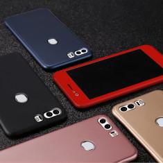 Bumper / Husa 360° fata + spate pentru Huawei Honor 8 / Honor 9 - Husa Telefon, Negru