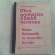 Mica gramatica a limbii germane-Emilia Savin - Curs Limba Germana