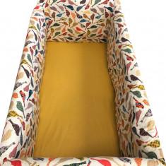 Aparatori laterale pentru pat Maxi 140 x 70 cm Pasarele Deseda - Lenjerie pat copii