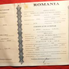 Certificat de Actionar, albastru, de 1.000.000 lei