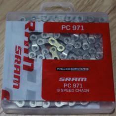 Sram PC971 Powerchain II - Powerlink Gold 114L lant bicicleta - Piesa bicicleta Shimano, Lanturi bicicleta