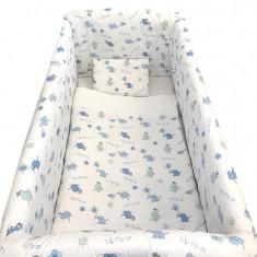 Lenjerie de pat 7 piese Maxi 120 x 60 cm Elefantei Deseda - Lenjerie pat copii