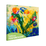 Tablou fosforescent Abstract pe sticla