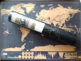 Harta Razuibila Portabila , Ideal Cadou Pentru Pasionatii de Calatorii