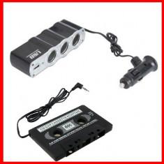 Adaptor bricheta auto priza usb+Caseta Adaptoare