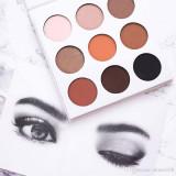 Trusa machiaj farduri Kylie Jenner 9 culori The Bronze Palette mate si sidefate