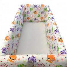 Aparatori laterale pentru pat Maxi 120 x 60 cm Vise Jucause Mov-Roz Deseda - Lenjerie pat copii