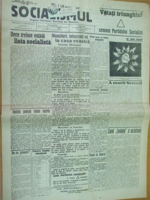 Socialismul 21 mai 1926 propaganda electorala Lupeni Focsani Baia Azuga Madgearu foto mare