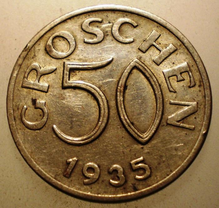 2.802 AUSTRIA 50 GROSCHEN 1935 foto mare