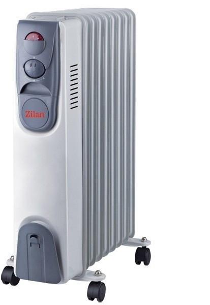 Calorifer electric ZILAN ZLN-2111, 9 elementi, Putere 2000 W, 3 trepte de putere, Termostat de siguranta, Termostat reglabil foto mare
