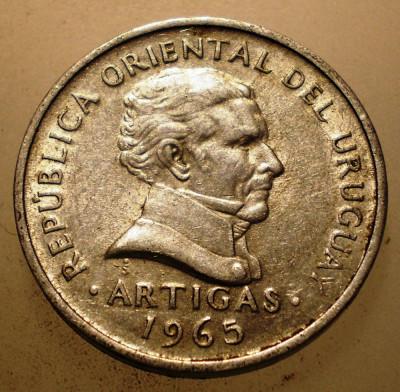 2.796 URUGUAY ARTIGAS 20 CENTESIMOS 1965 foto