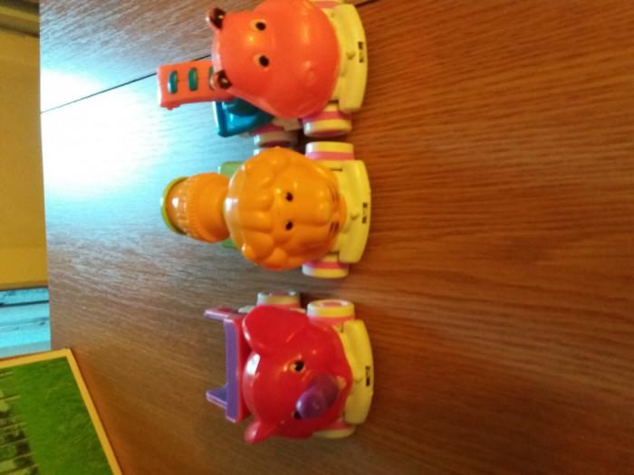 Set 3 masinute cu cap de animale
