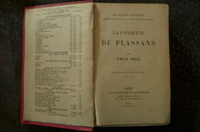 La conquete de plassans de Emile Zola  Ed. Bobliotheque-Charpentier Paris 1916 foto