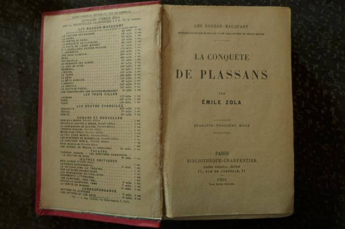 La conquete de plassans de Emile Zola  Ed. Bobliotheque-Charpentier Paris 1916 foto mare