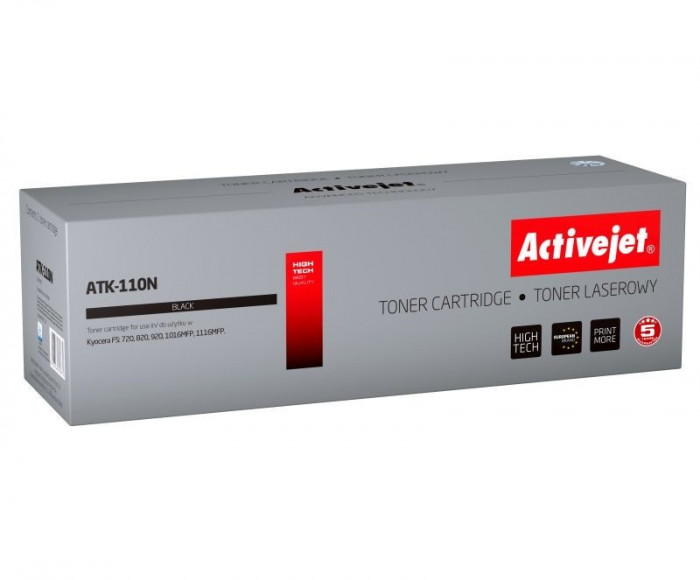 Toner compatibil tk-110 pentru kyocera, black, premium activejet, garantie 5 ani Digital Media foto mare