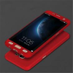 Husa 360º grade pentru Samsung S7 cu folie de protectie inclusa- RED - Husa Telefon, Samsung Galaxy S7, Rosu, Carcasa