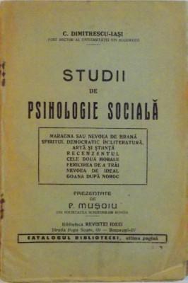 STUDII DE PSIHOLOGIE SOCIALA de P. MUSOIU foto