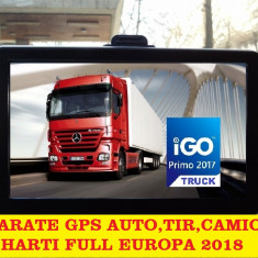 "GPS Navigatie  HD 7""Ecran MARE, 256MbRAM, 8Gb, GPS CAMION//TIR Full Europa 2018"