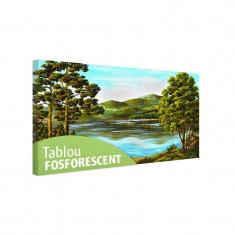 Tablou fosforescent Lac de munte - Tablou canvas