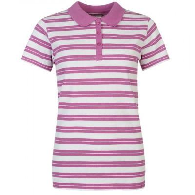 Oferta! Tricou Polo Dama Miso Stripe Violet - original foto