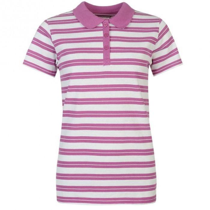 Oferta! Tricou Polo Dama Miso Stripe Violet - original foto mare