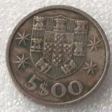 P2. PORTUGALIA 5 ESCUDOS 1972 **, Europa